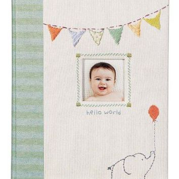 Elephant 'Hello World' First Five Years Memory Baby Book
