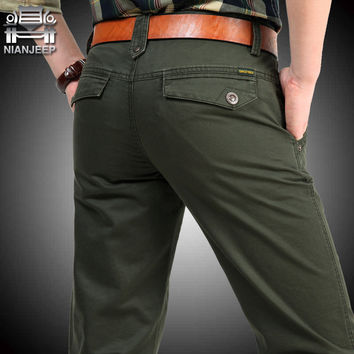 Brand Big Size 30 40 42 Cotton Pants Casual  Men Clothing Military Army Green   Mens Joggers