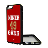 Apple iPhone 6 5C 5S 4S Generation Fitted Rubber Silicone TPU Phone Case Cover San Francisco Red Faithful Niner Gang Blooded 49ers