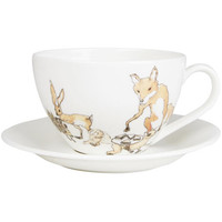 Animal Tea Party Teacup and Saucer, Mellor Ware. Shop the Mellor Ware collection at Liberty.co.uk