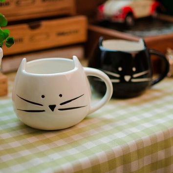 Cute Cat Milk Mug