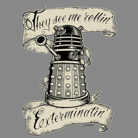Doctor Who hand printed: They Hatin' - Tee Shirt