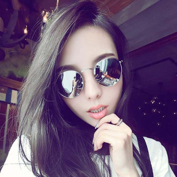 2017 Fashion Women Sunglass for Small Face Classic Round Sunglasses Women Brand Designer Sun Glasses 3447 Oculos feminino