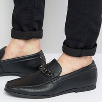 River Island Loafer With Chain Detail In Black at asos.com