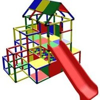 Huge Home Playground Climbing Structure w/ Ball Pit & Slide