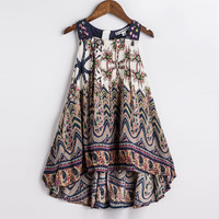 Baby Girls Summer Dress  New Brand Kids Print Party Dress for Girls Children Bohemian Fashion Clothes