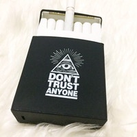 "Rare BLACK ""Don't Trust Anyone"" Silicon Cigarette Case / Cigarette dispenser / Smoking Accessories"