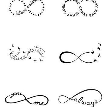 Women's Tattify 'Infinity Moods' Temporary Tattoos