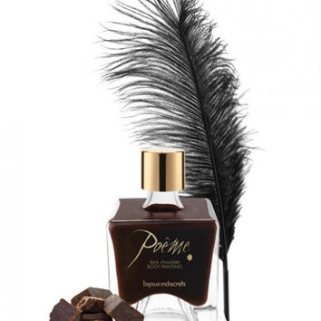 Dark Chocolate Body Paint by Bijoux Indiscrets Poeme TEMPORARILY OUT OF STOCK