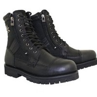 Xelement 1506 Mens Black Xelement Impact Biker Boots - 10