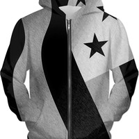 Patriotic everyday - unisex fit hoodie, US flag pencils, America in black & white