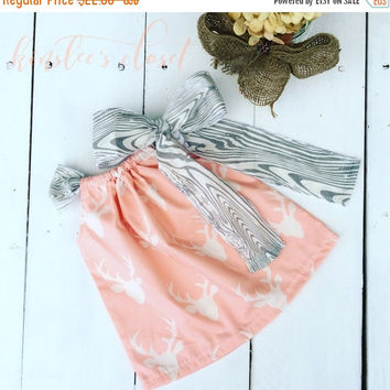 On Sale Girls Rustic Dress - Girls Pillowcase Dress