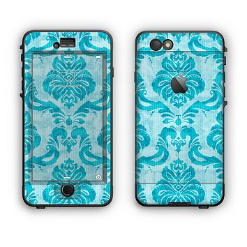 The Delicate Trendy Blue Pattern V4 Apple iPhone 6 Plus LifeProof Nuud Case Skin Set