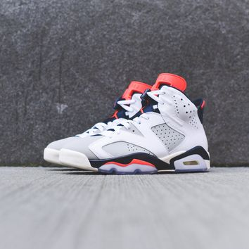 AIR JORDAN 6 RETRO WHITE / INFRARED / NEUTRAL GREY