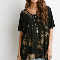 Bleach-Splatter Oversized Tee