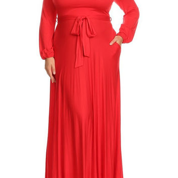 Long Length Grecian Dress - Curvaceous