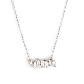 Suzanne Kalan 'Fireworks' Diamond Baguette Mini Bar Pendant Necklace | Nordstrom