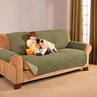 3 Sizes- Reversible Olive and Sage Furniture Protectors