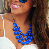 Bubble Over Necklace: Blue