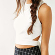 Silence + Noise Tie-Back Cropped Tank Top - Urban Outfitters