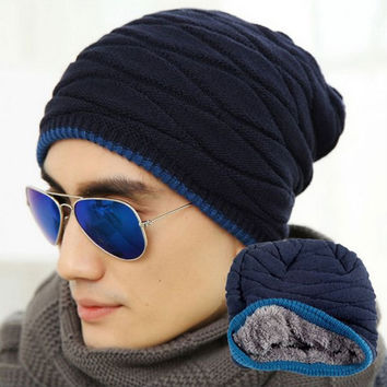 Knit Winter Womens Men Mens Cashmere Hip-Hop Beanie Hat Baggy Unisex Ski Cap Skull