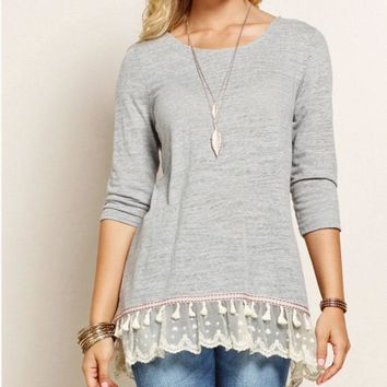 Crochet Lace Trim Tunic