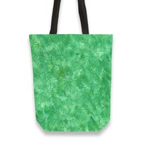 'Bright green swirls doodles' Tote Bags by Savousepate on miPic