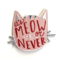 Meow or Never Iron-On Patch