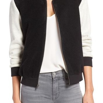 cupcakes and cashmere 'Tompkins' Colorblock Varsity Jacket | Nordstrom