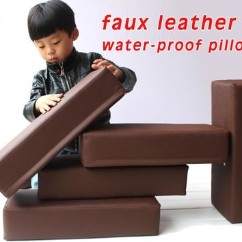 Water-proof  Faux Leather Pillow Massage Table Cushion Medical Treatment Pillow Foam Stuffed Neck Pillow 45x20x8cm