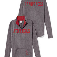 University of Arkansas Raw Half-zip Pullover - PINK - Victoria's Secret