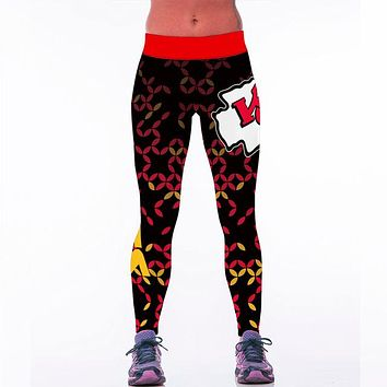 Kansas City Chiefs 3D Printed Team Leggings