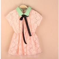Vintage Inspired Girls Clothes Pink Vintage Inspired Lace Dress | Vindie Baby