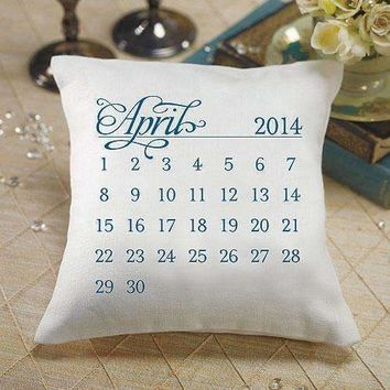 """""""Notable"""" Personalized Ring Pillow with Wedding Date Design Berry (Pack of 1)"""