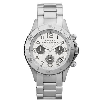 Marc by Marc Jacobs MBM3155 Women's Metal Rock Silver Dial Stainless Steel Bracelet Chronograph Watch