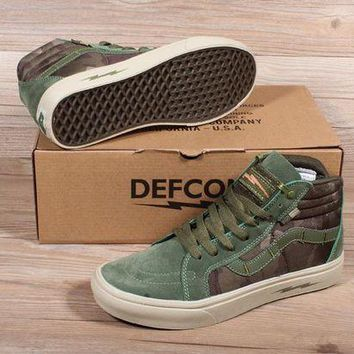 VOND4H VANS SK8 PRO DEFCON Men Women Sneaker Color Green