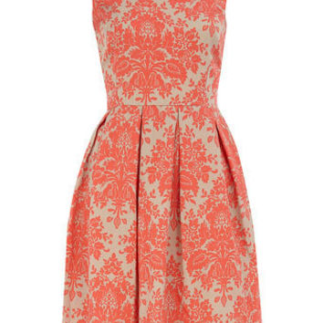 Coral damask prom dress - Dresses Sale  - Dresses  - Dorothy Perkins United States