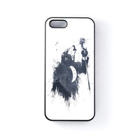 Wolf Song 3 Black Hard Plastic Case for Apple iPhone 5 / 5s by Balazs Solti