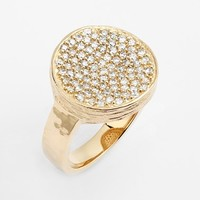 Women's Melinda Maria 'Kalena' Cocktail Ring - Gold/ Clear Cz