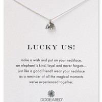 Dogeared Lucky Us Necklace, 16"