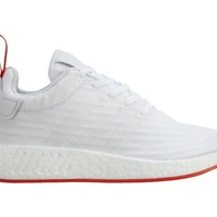 Adidas NMD_R2 PK Mens BA7253 White Red Primeknit Boost Running Shoes Size 8