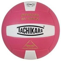 Tachikara SV5WSC Sensi-Tec composite, colorful high performance volleyball (pink/white)
