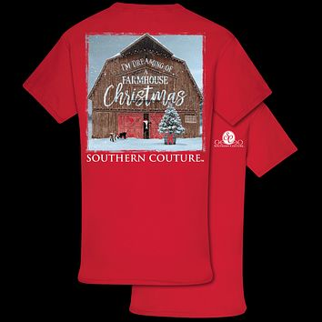 Southern Couture Classic Farmhouse Christmas Holiday T-Shirt