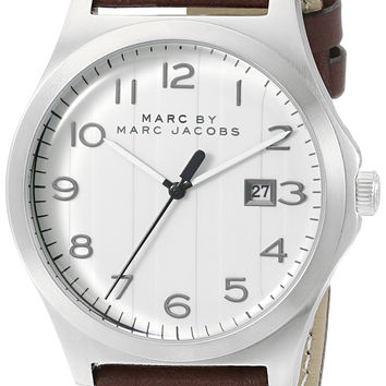 Brown Leather Strap Timepiece by Marc Jacobs