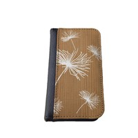caseorama Wood print iPhone 5C wallet case Flip Case graphic chevron dandelion anchor graphic distressed (Wood Dandelion)