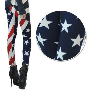 New Arrival Women American Flag High Waist Sports Gym Yoga Legging Running Pants Workout Clothes #E0