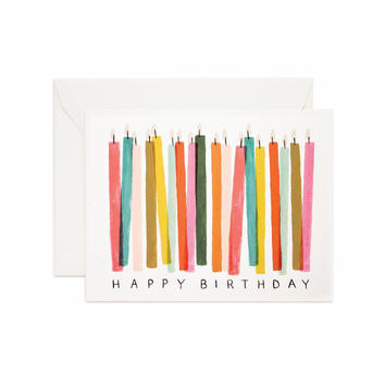 RIFLE PAPER BIRTHDAY CANDLE CARD