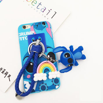 Iphone Phone Case Korean Cartoons Soft Apple Ring Rack [8153018503]
