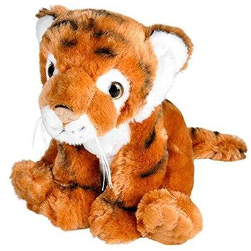 "Wildlife Tree 8"" Tiger Stuffed Animal Plush Floppy Zoo Animal Den Collection"