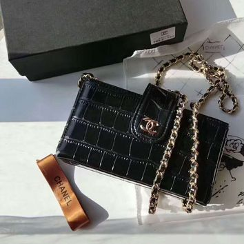 CHANEL 2018 counter new trend trendy high-end chain bag F-AGG-CZDL black